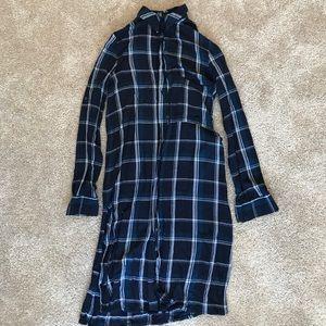 BLUE PLAID SHIRT DRESS • ZARA